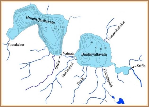 Kort af Baulárvallarvatni (2013)