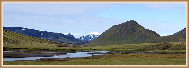 Helliskvísl, Hekla í bakgrunni