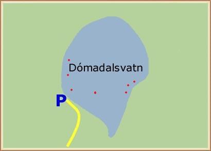 Dómadalsvatn - Hnit: 64° 2,115'N, 19° 9,066'W
