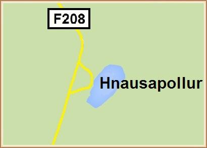 Hnausapollur - Hnit: 64° 3,101'N, 19° 1,879'W