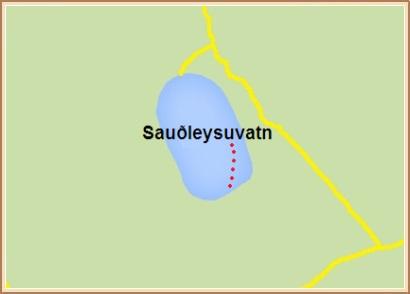 Sauðleysuvatn - Hnit: 64° 3,325'N, 19° 19,071'W