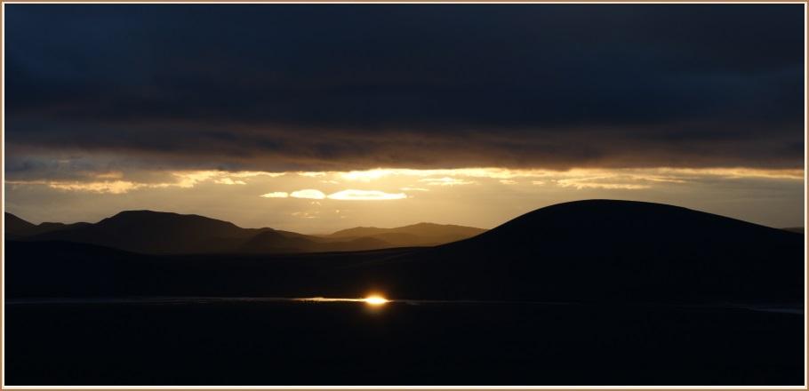 Sólarlag við Veiðivötn