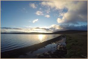 Stóra Fossvatn að kvöldi