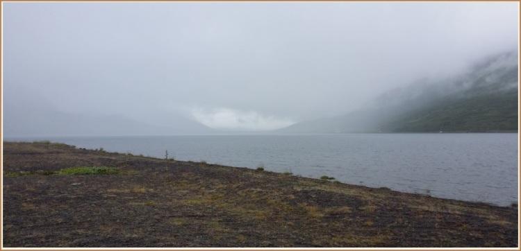 Ljósavatn og umrædd þoka