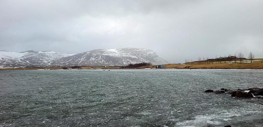 Meðalfellsvatn í byrjun apríl