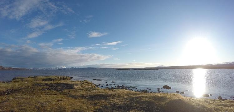 Það var blíða á Þingvöllum í dag