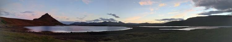 Síðkvöld við Hlíðarvatn